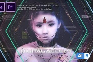 Videohive – Hexagons Accept Digital Opener – 31368866