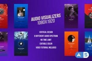 Videohive Social Media Audio Visualizers, Vertical Design 31352153
