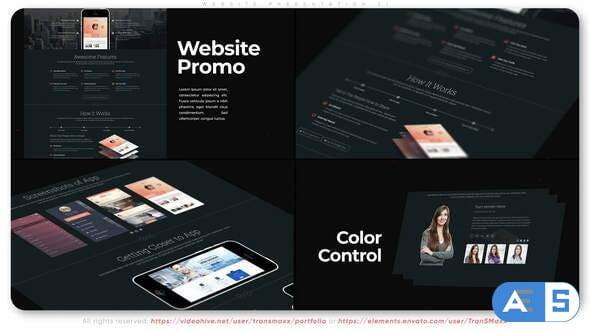 Videohive Website Presentation Z1 31599731