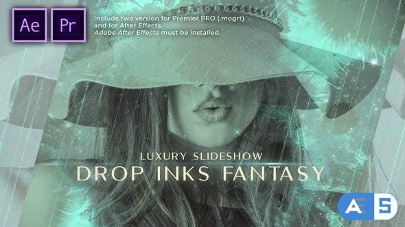 Videohive – Drop Inks Fantasy Luxury Slideshow – 31368948