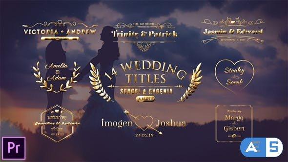 Videohive – Wedding Titles – 23793642