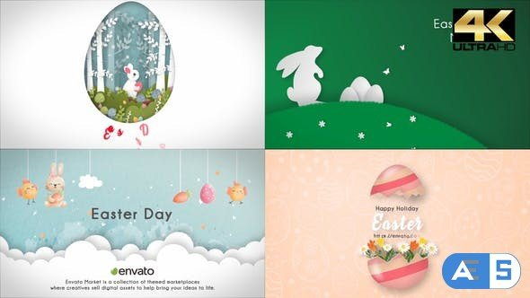 Videohive Happy Easter Day (4 in 1) 31670426