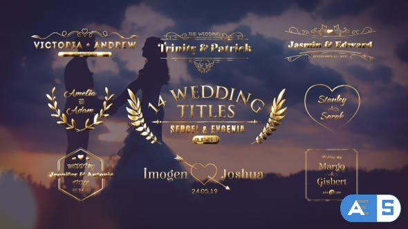 Videohive Wedding Titles 21473391
