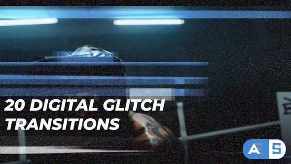 Videohive Digital Glitch Transitions 31802776