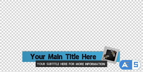 Videohive Unfold Lower Thirds 5840616