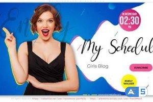 Videohive My Schedule. Girls Blog 31006038