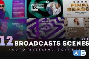 Videohive 12 Broadcasts Scenes 31794308