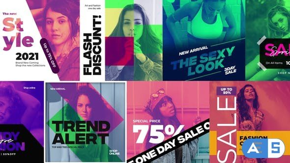 Videohive Duotone Instagram Fashion Banners / Fashion Stories 31462873