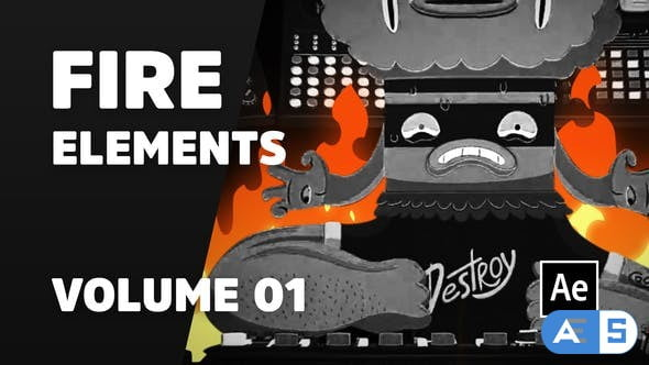 Videohive Fire Elements Volume 01 [Ae] 31041232