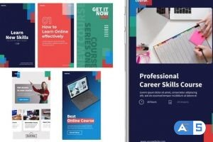 Videohive Target online course stories 31696107