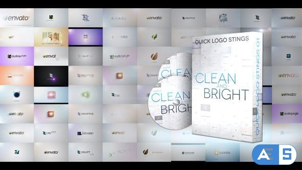 Videohive Quick Logo Sting Pack 01: Clean & Bright 4028443