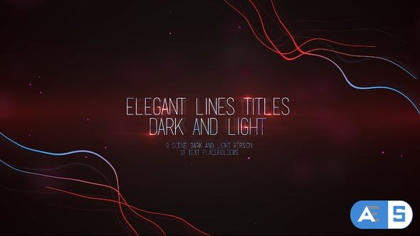 Videohive Elegant Lines Titles: Dark and Light 16386628