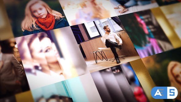 Videohive Golden Mosaic Reveal 31339157