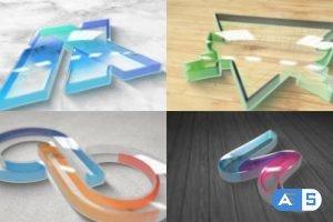 Videohive Perspex Plastic Logo Reveal 30757500