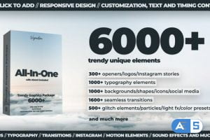 Videohive 6000+ All-In-One Motion Graphics Pack V5.1 24321544