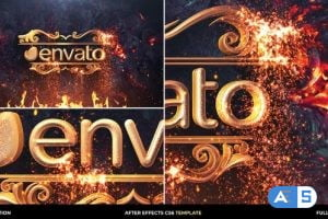 Videohive Gold Particles Logo Intro 30270705