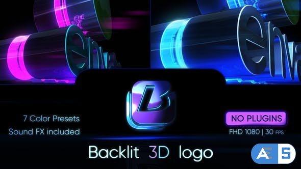 Videohive Backlit 3D Logo 30902997