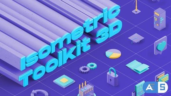 Videohive Isometric Toolkit 3D 29737190