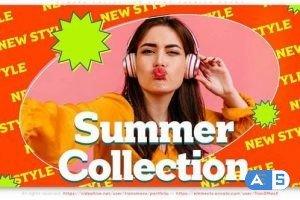 Videohive Summer Collection. Retro Style Fashion Promo 31482373