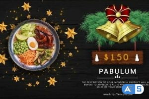 Videohive Merry Christmas Menu Restaurant Promo 31868025