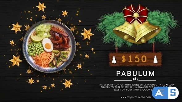 Videohive Merry Christmas Menu Restaurant Promo 31868025