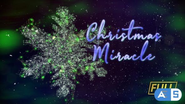 Videohive Christmas Miracle Titles 24993089