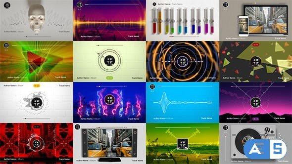 Videohive 50 Audio Spectrum Music Visualizers 19627228