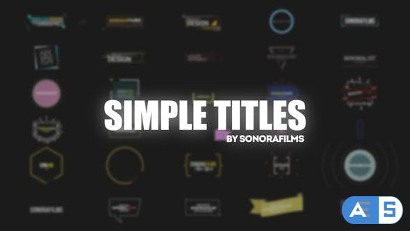 Videohive Simple Titles 31837015