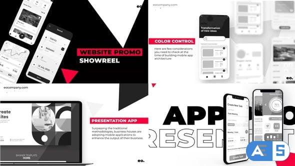 Videohive Black and White Website Promo 31812320