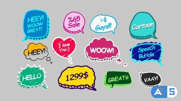 Videohive Speech Bubbles 31810605