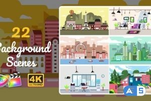 Videohive – 22 Background Scenes   Apple Motion & FCPX – 31909911