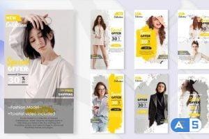 Videohive Fashion Promo Instagram Post & Stories 32073674
