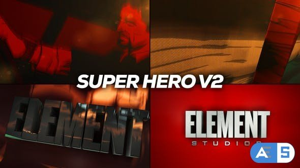 Videohive – Super Hero Logo Reveal Title V2 – 31284906