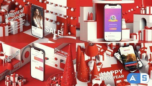 Videohive Christmas Identity APP Promo 29740146