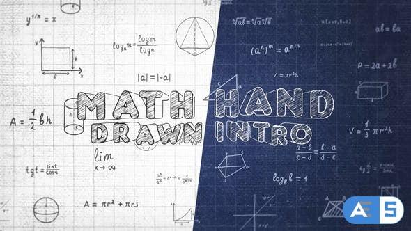 Videohive Math Hand Draw Intro 32139869