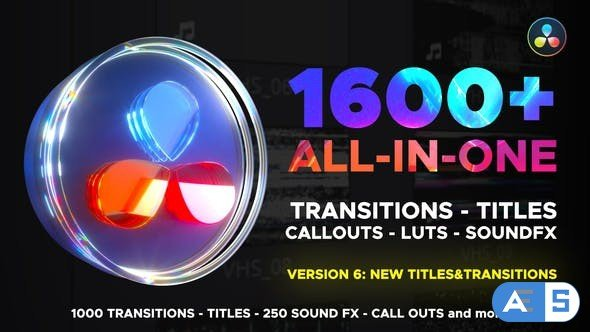 Videohive Transitions Library for DaVinci Resolve V6 29483279