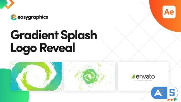 Videohive Gradient Splash Logo Reveal 32187283