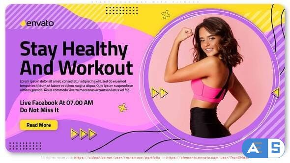 Videohive Start Your Day With Fitness. Training Course 32228866