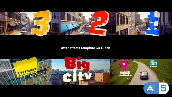 Videohive 3D Titles – 3D Glitch 31994178