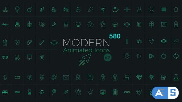 Videohive Modern Animated Icons Library 18796846