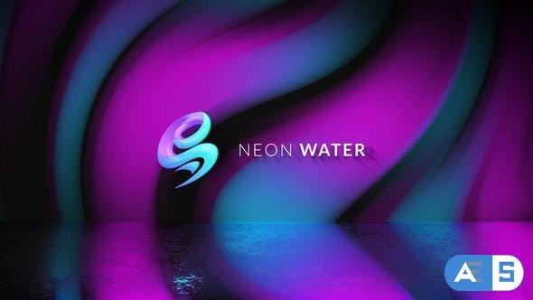 Videohive Neon Water Logo Reveal 30118253