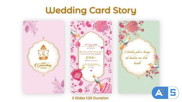 Videohive Wedding Card Story 32250778