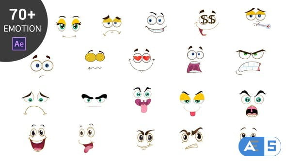 Videohive Cartoon Emoticons Pack 23006818
