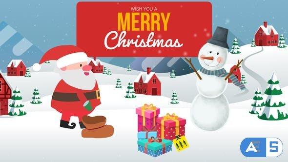 Videohive Cartoon Christmas Wishes – Christmas Opener 25187653