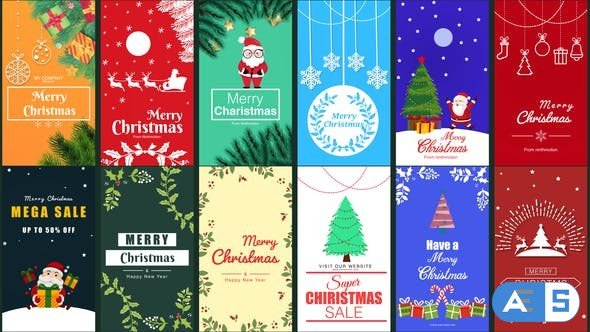 Videohive Christmas Instagram Story Pack 25225168