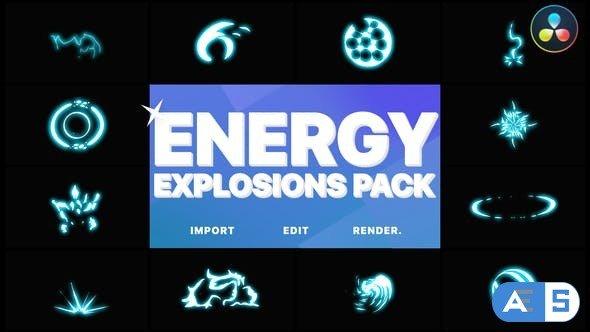Videohive – Energy Explosion Elements | DaVinci Resolve – 32047488