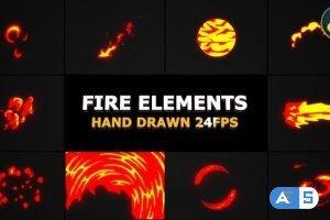 Videohive – Cartoon Fire FX   DaVinci Resolve – 31874957