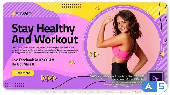 Videohive – Start Your Day With Fitness. Training Course – 32299449