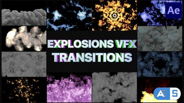 Videohive Smoke And Explosions VFX Transitions   After Effects 32051284