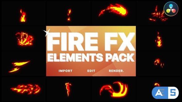 Videohive – Flash FX Fire Elements | DaVinci Resolve – 32271854